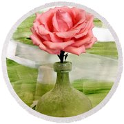 Mr Rose Round Beach Towel