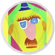 Mr. Strangefellow Round Beach Towel