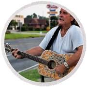Round Beach Towel featuring the photograph Mr. Terry Benoit by John Glass