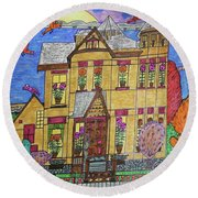 Mrs. Robert Stephenson Home. Round Beach Towel by Jonathon Hansen