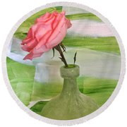 Mrs Rose Round Beach Towel