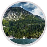 M.s. Dixie II, Lake Tahoe, Ca Round Beach Towel