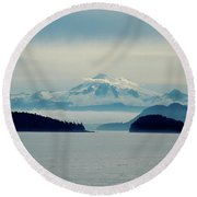 Mt. Baker Washington Round Beach Towel