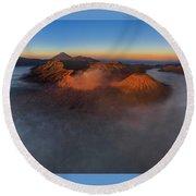Mt Bromo Sunrise Round Beach Towel