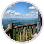 Mt. Cammerer Round Beach Towel by Debbie Green