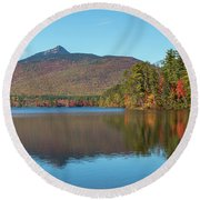 Mt Chocorua In Autumn Round Beach Towel