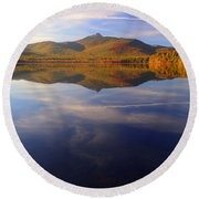 Mt. Chocorua In Blue Round Beach Towel