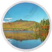 Mt Chocorua Panorama Round Beach Towel