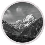Mt Cook Wilderness Round Beach Towel