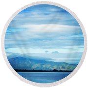 Mt Diablo California Round Beach Towel