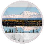 Round Beach Towel featuring the photograph Mt. Drum - Alaska by Juergen Weiss