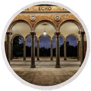 Mt Echo Pavilion Round Beach Towel