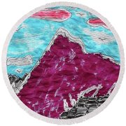 Mt. Fuji Village  Round Beach Towel