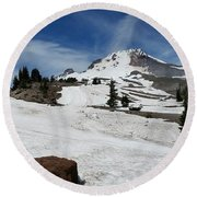 Mt. Hood In June Round Beach Towel