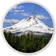 Mt. Hood's East Face Round Beach Towel