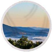 Mt. Jefferson Cloud Lake Round Beach Towel by Dale R Carlson