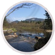 Mt. Katahdin Round Beach Towel