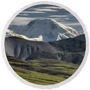 Mt. Mather Round Beach Towel