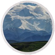 Round Beach Towel featuring the photograph Denali by Gary Lengyel