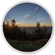 Mt Mitchell Sunset North Carolina 2016 Round Beach Towel by Terry DeLuco