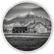 Mt Pilchuck Round Beach Towel