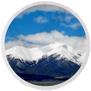 Mt. Princeton Colorado Round Beach Towel