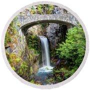 Mt Rainier National Park, Christine Falls Round Beach Towel