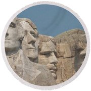 Mt. Rushmore Round Beach Towel