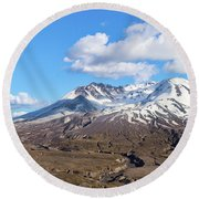 Mt Saint Helens Round Beach Towel