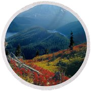 1m4903-mt. St. Helens 1975  Round Beach Towel