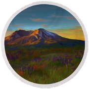 Mt. St. Helens Sunrise Round Beach Towel