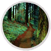 Mt. Tabor Afternoons  Round Beach Towel