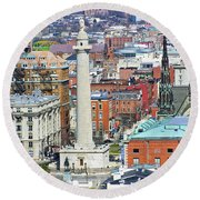 Mt Vernon - Baltimore Round Beach Towel by Brian Wallace