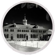 Mt Vernon Round Beach Towel by Paul Seymour