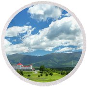 Mt Washington Hotel Round Beach Towel