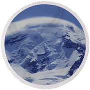 Round Beach Towel featuring the photograph Mt201cloudcap Over Mt. Baker Wa by Ed Cooper Photography