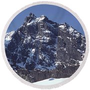 Round Beach Towel featuring the photograph Mt207 North Face Lincoln Peak Wa by Ed Cooper Photography