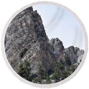 The Caves Of Mt. Charleston Round Beach Towel
