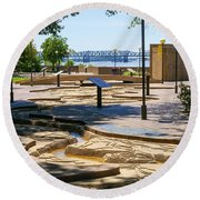 Mud Island Park Round Beach Towel