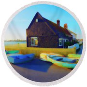 Muddage  Rowers Round Beach Towel by Jan W Faul