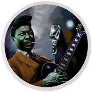 Muddy Waters - Mick Jagger's Grandfather Round Beach Towel by Dan Haraga