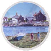 Mudeford Quay Christchurch From Hengistbury Head Round Beach Towel