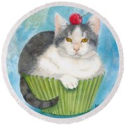Muffin Of Animal Rescue And Foster Round Beach Towel