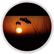 Round Beach Towel featuring the photograph Mug - Sunset by Inge Riis McDonald