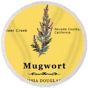 Mugwort Round Beach Towel