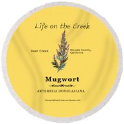Mugwort Round Beach Towel