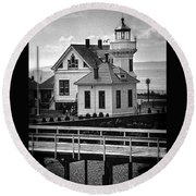 Round Beach Towel featuring the photograph Mukilteo Lighthouse by Elf Evans