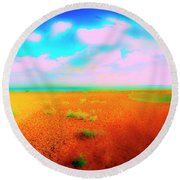 Mulberry Land Round Beach Towel