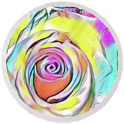 Multi-colored Rose Round Beach Towel