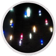 Multi Colored Lights Round Beach Towel